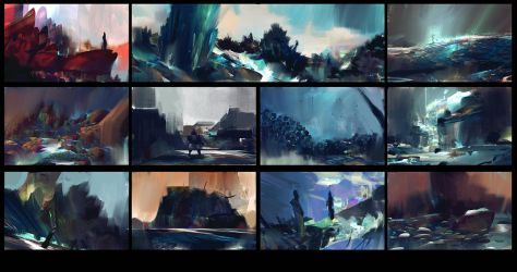 11 environment thumbnails, in 53 minutes by MrDream