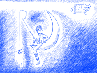 New ID - Jack Frost sees Nyan Cat by LordBlackTiger666