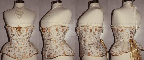 antique corset reproduction REF Y for my personal by AtelierSylpheCorsets