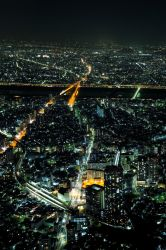 Skytree, Tokyo Night Cityscape by nostro-fr