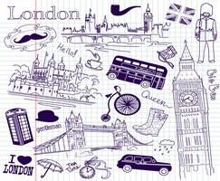 London-England-Doodles by SireVoltz