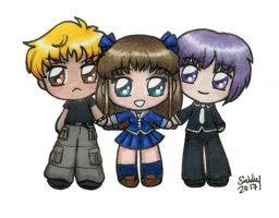 Fruits Basket Chibi Trio by SarahsPlushNStuff