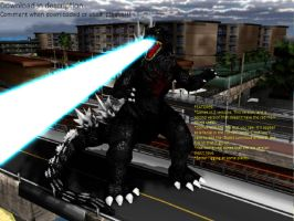 MMD Godzilla Newcomer - Godzilla 2003 UPDATED +DL+ by MMDCharizard