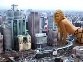 Giantess in the city 3 by lala222221