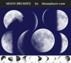 Free Moon Brushes by PetyaPlamenova