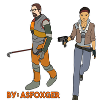 Freeman and Vance by AsFoxger