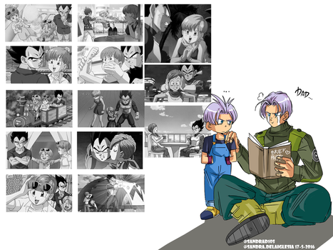 future Trunks watching how his dad has chnged *-* by Sandra-delaIglesia