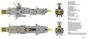 Space Battleship EDF Andromeda by Tzoli