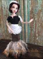 Disney beauty and the beast fifi ooak doll by amberkercher1