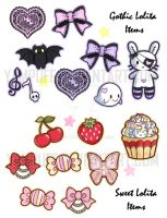Lolita Stickers by YamPuff