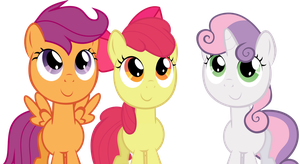 Cutie Mark Crusaders Deviant Art Invaders! by laberoon