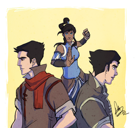 LOK trio by BakayaroManiac