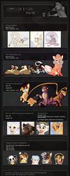 Commission Price Sheet 2017 by Kitchiki