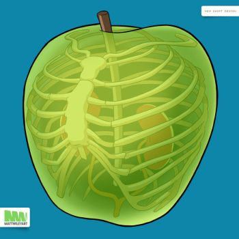 You Are What You Eat (Apple) by mattwileyart
