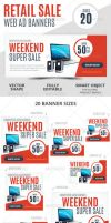 Weekend Super Sale Retail Web Ad Banners by webduckdesign