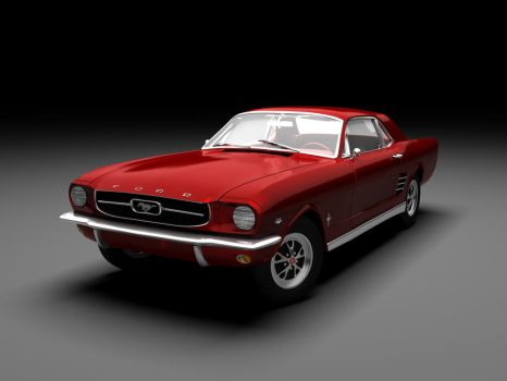 Ford Mustang '66 coupe 02 by Elmias