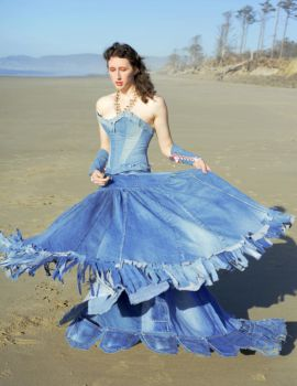 Blue Jean Ball Gown by TEMPERATE-SAGE