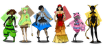 Mixed Bag Adopts Collab:PrettyPumpkinhead 6/6 Open by TheMushroomancer