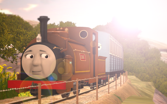 Skarloey Railway 2012 Wallpaper - (''Duke'') by Nictrain123