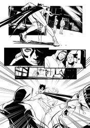 Bat Girl Test page 01 by qualano
