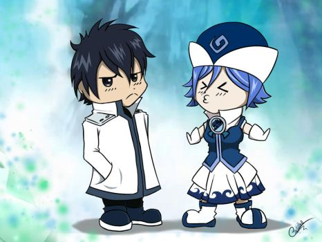 Gray Fullbuster and Juvia Loxar by Zignow