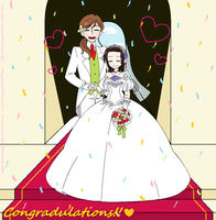 Nyo Hungary x Nyo Austria wedding by HtfAnimeVocaGirl