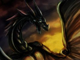 Dragon - speedpaint by kami-bakura