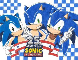 25th Anniversary of Sonic The Hedgehog by RedFire199-S