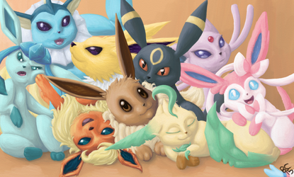 Eevee and Friends by bootsa81
