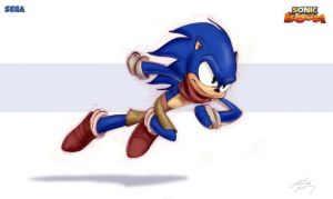 Sonic Boom-Sonic original artwork design - leaked by Knuxy7789