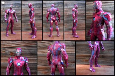 Marvel - Iron Man (Civil War) Papercraft by alicestuff