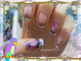 Birds Nail Art by elegance2255