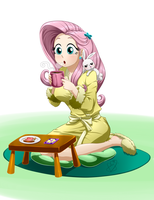 Commission - Morning Coffee by Pia-sama