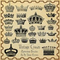 Vintage Crown Brushes by AllThingsPrecious