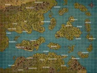 Map of Custalian Archipelago by HiddenLordGhost