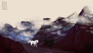 Mountain Path by IronclawsAndPaws