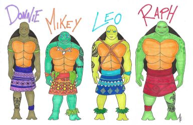 TMNT Moana version by AliceCherie