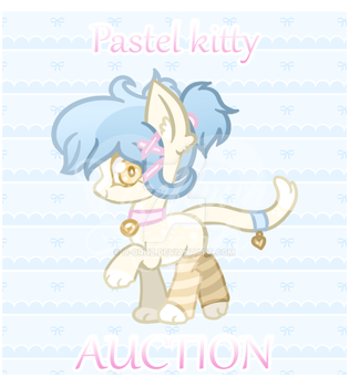 [CLOSED] Pastel kitty pon Adopt by Fireflys-Adopts