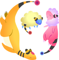 Ampharos Fam 2 by little-ampharos