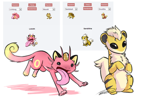 Some Pokemon Fusions by DoeKitty