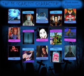 My Top 15 Scariest Characters by Toongirl18