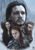 The North Remembers - Game of thrones by Russtiel