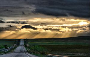 Road and Sky by cellists