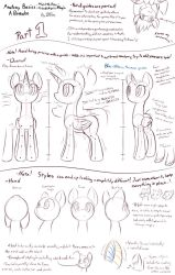 MLP - Basic Anatomy Guide Part 1 [Overall + Head] by DShou
