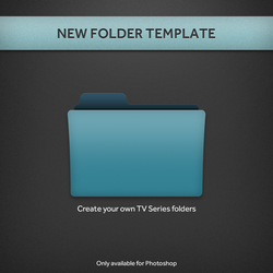 New TV Series Folder PSD Template by paulodelvalle