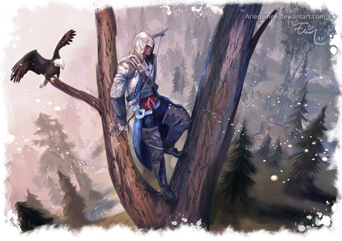 Assassins Creed III - Connor by ElinTan