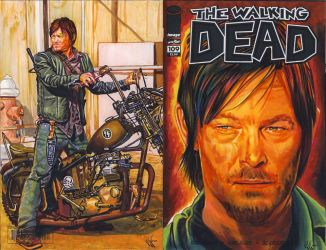 Daryl Dixon Walking Dead variant cover by choffman36