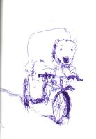 Polar Bear on Bicycle by elpajo
