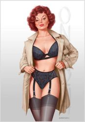 Trench And Lingerie by LorenzoDiMauro