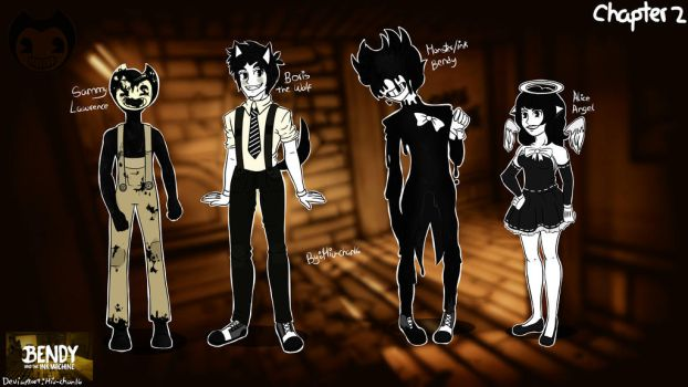 Chapter 2 Concept/ Human Bendy And The Ink Machine by Miu-Chan16